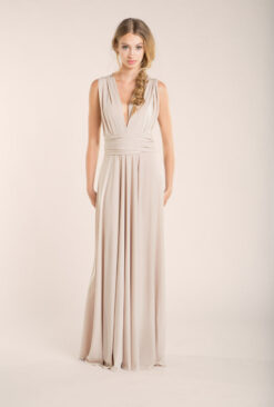 gala-essential-long-dress-bridesmaid-champagne-mimetik-bcn