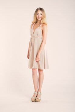 gala-essential-short-dress-bridesmaid-champagne-mimetik-bcn