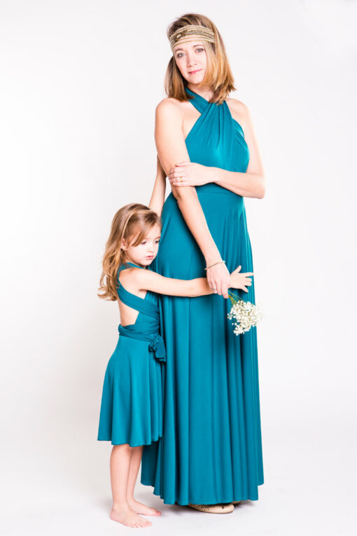 Mommy and me matching infinity dresses, flower girl and bridesmaid, pack of two dresses, mother daughter infinity dresses, choos
