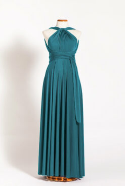 Teal maternity infinity dress, maternity long turquoise dress, deep teal pregnancy dress, petrol green maternity gowns, mother t