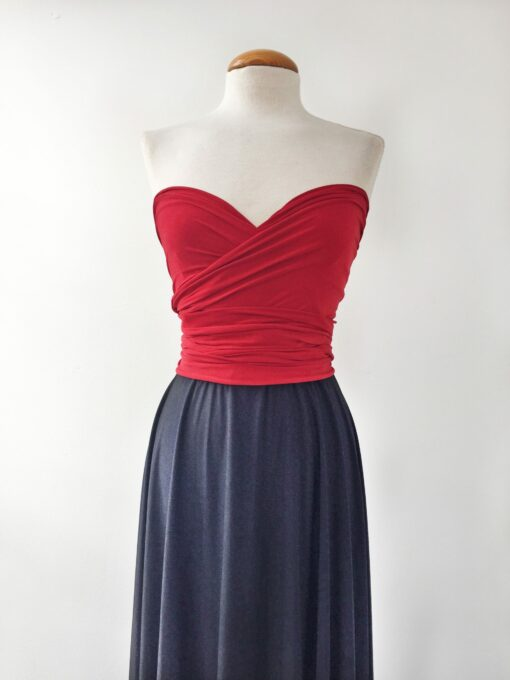 Navy blue bridesmaid dress, navy and red dress, bridesmaid long dress, wedding palette, red long dress, bridesmaid long dress, n