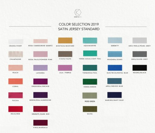 Color samples, made-to-measure dresses, custom made bridesmaid dresses, infinity bridesmaid dresses, color swatches, choose your