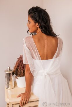 Hearts bodice and silked tulle wedding gown - Frida Bohemian