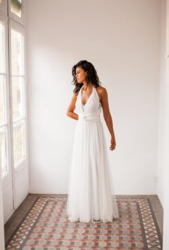 Bride in a hurry, ivory white tulle wedding dress, ready to wear bridal gown, wedding dress, ivory bridal gown, long tulle off w