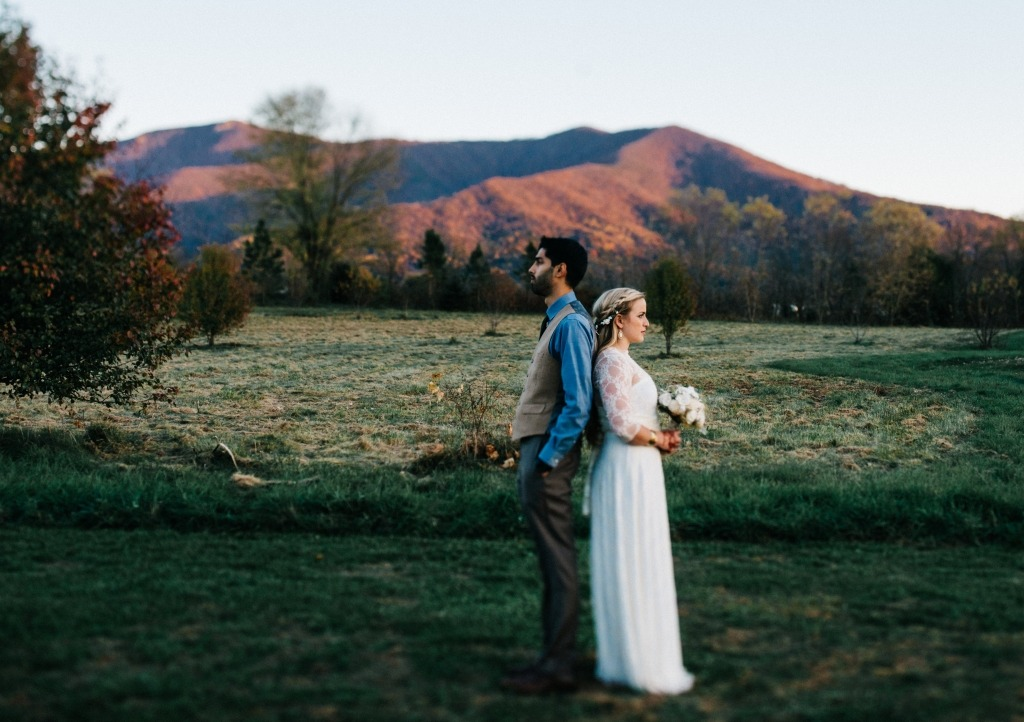 bride-and-groom-rustic-wedding-outdoors