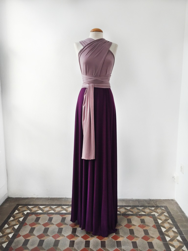 Two-Toned-Bridesmaid-Lilac-Dress
