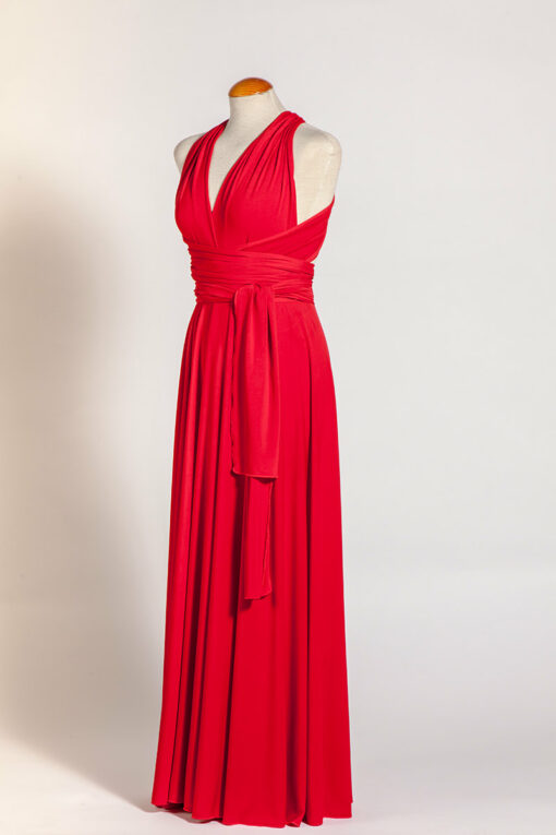 Red elegant infinity dress, marilyn dress, long red infinity dress, celebration red long dress, red gown, ready to ship red long