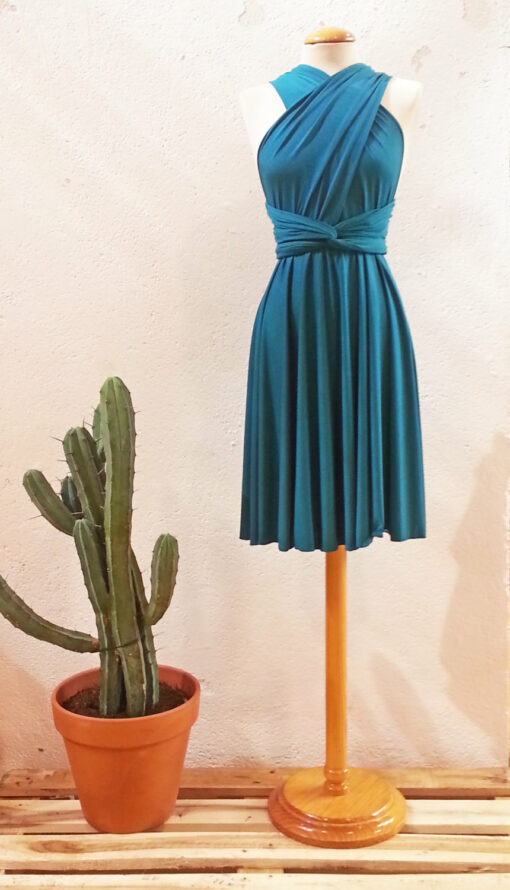 Teal bridesmaid dress, turquoise short party dress, short teal dress, turquoise bridesmaids, teal bridesmaid dresses, infinity w