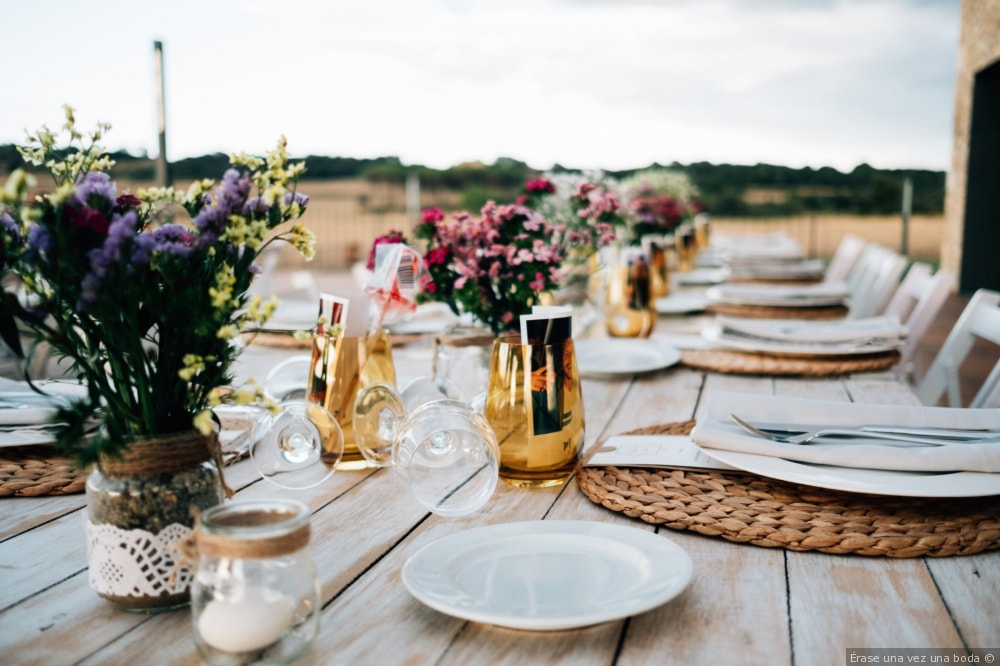 rustic wedding table decoration