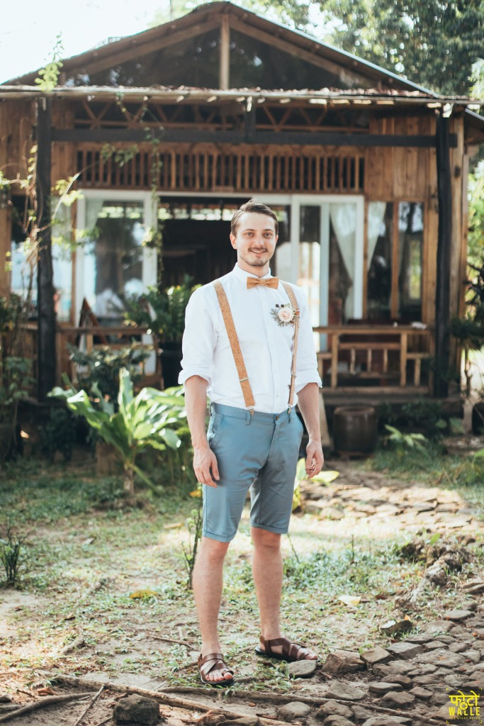 modern groom suit