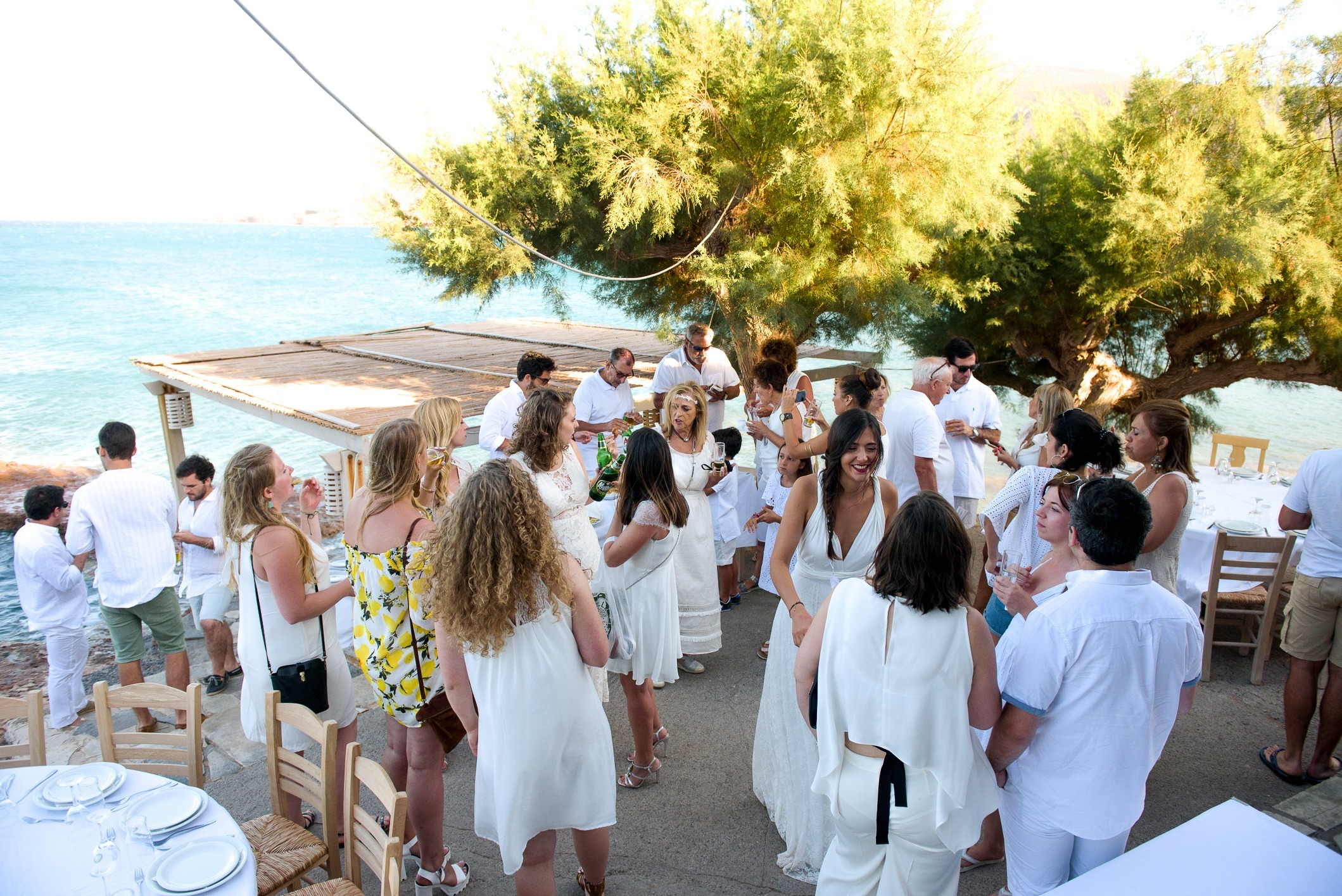 boda mediterranea all white