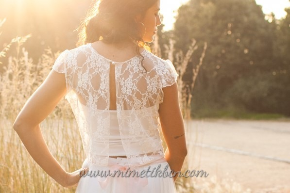 lace top for bride