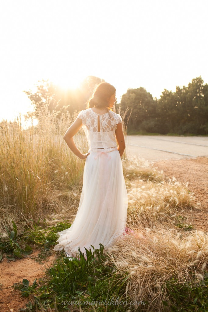 two-piece wedding dress bohemian wedding