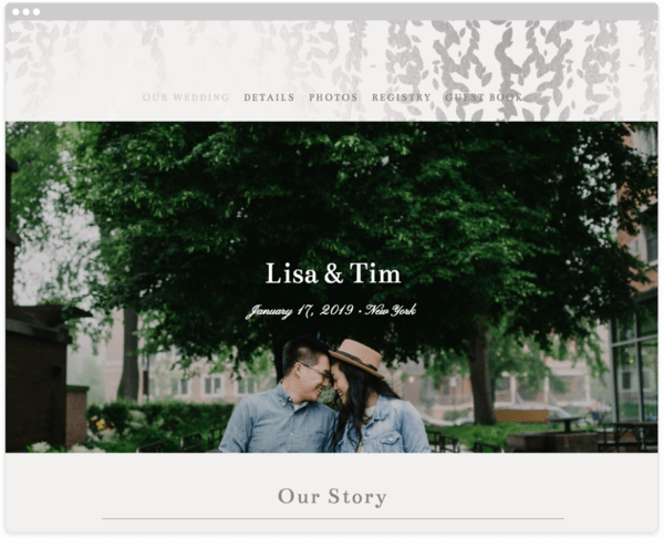 Wedding website creation and tips