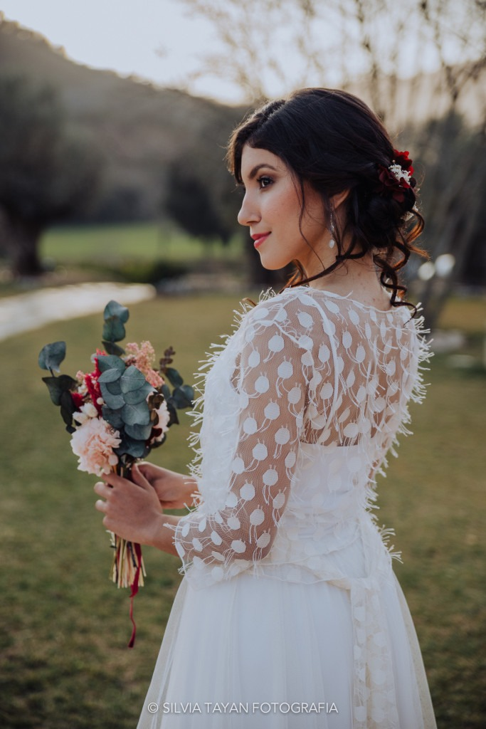 different bohemian wedding dress