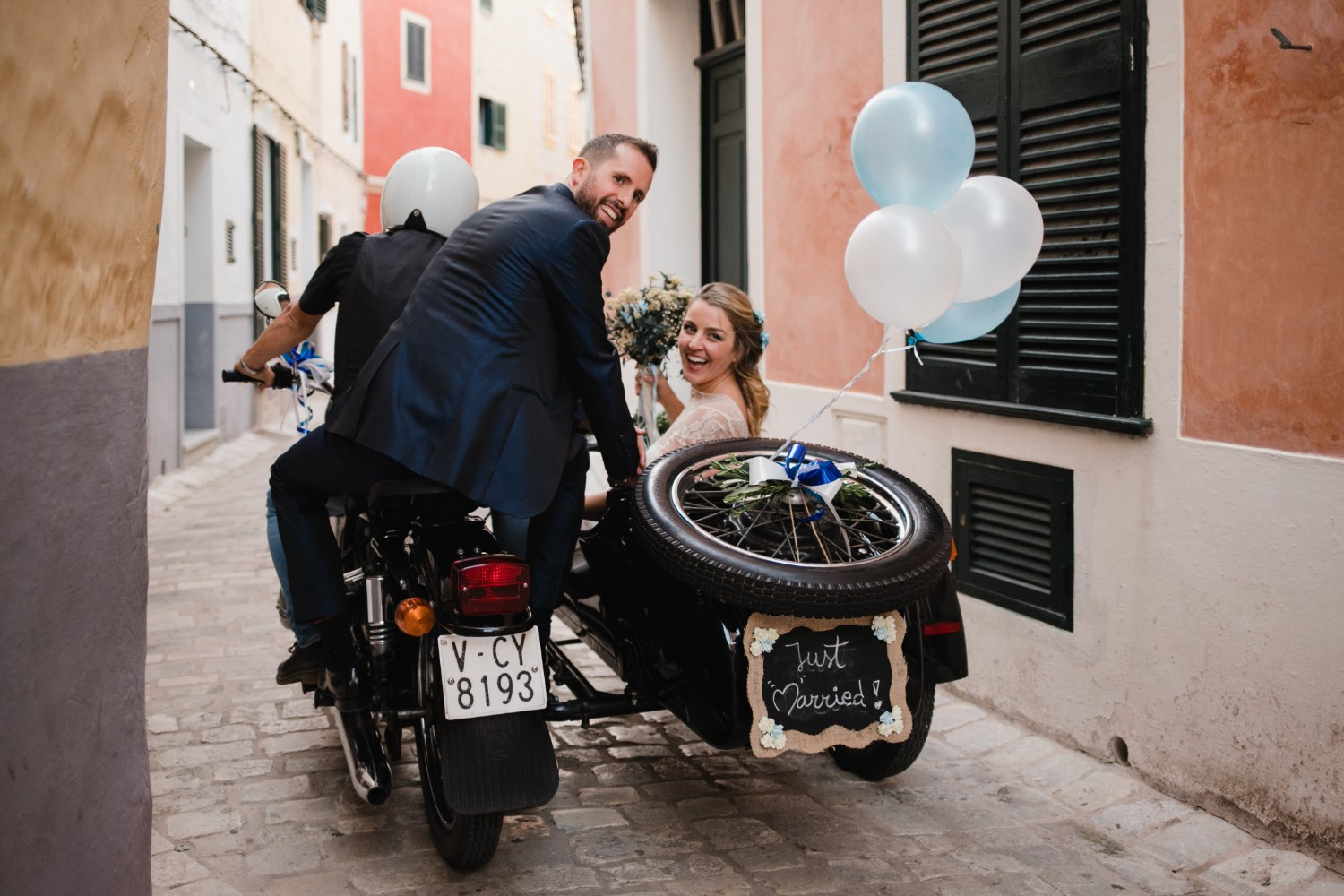 wedding with a sidecar