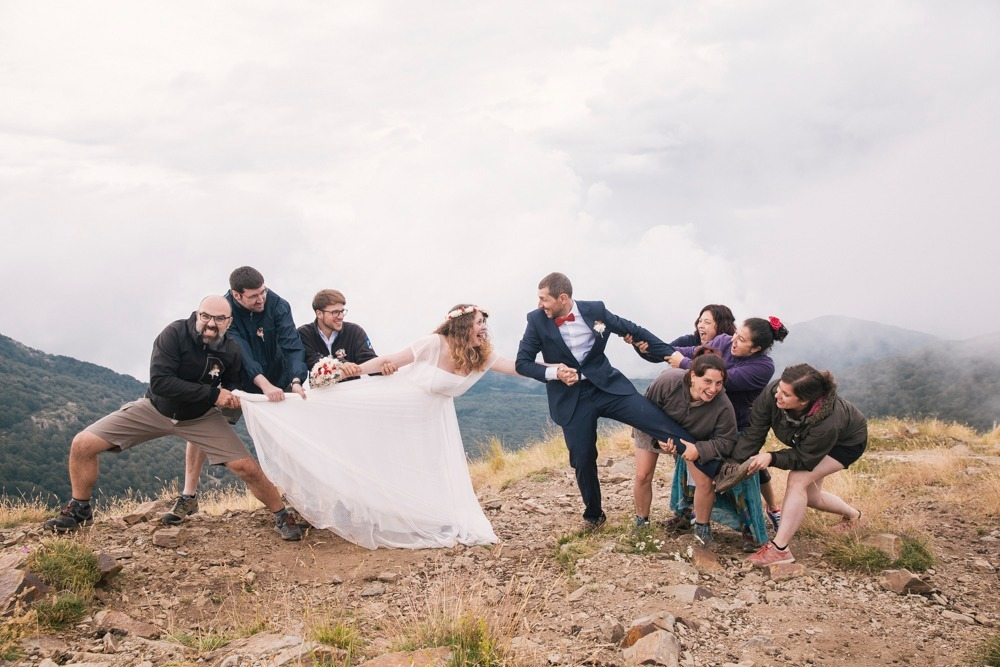 rustic wedding at the mountain