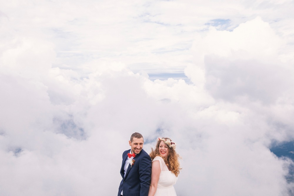 wedding in the clouds