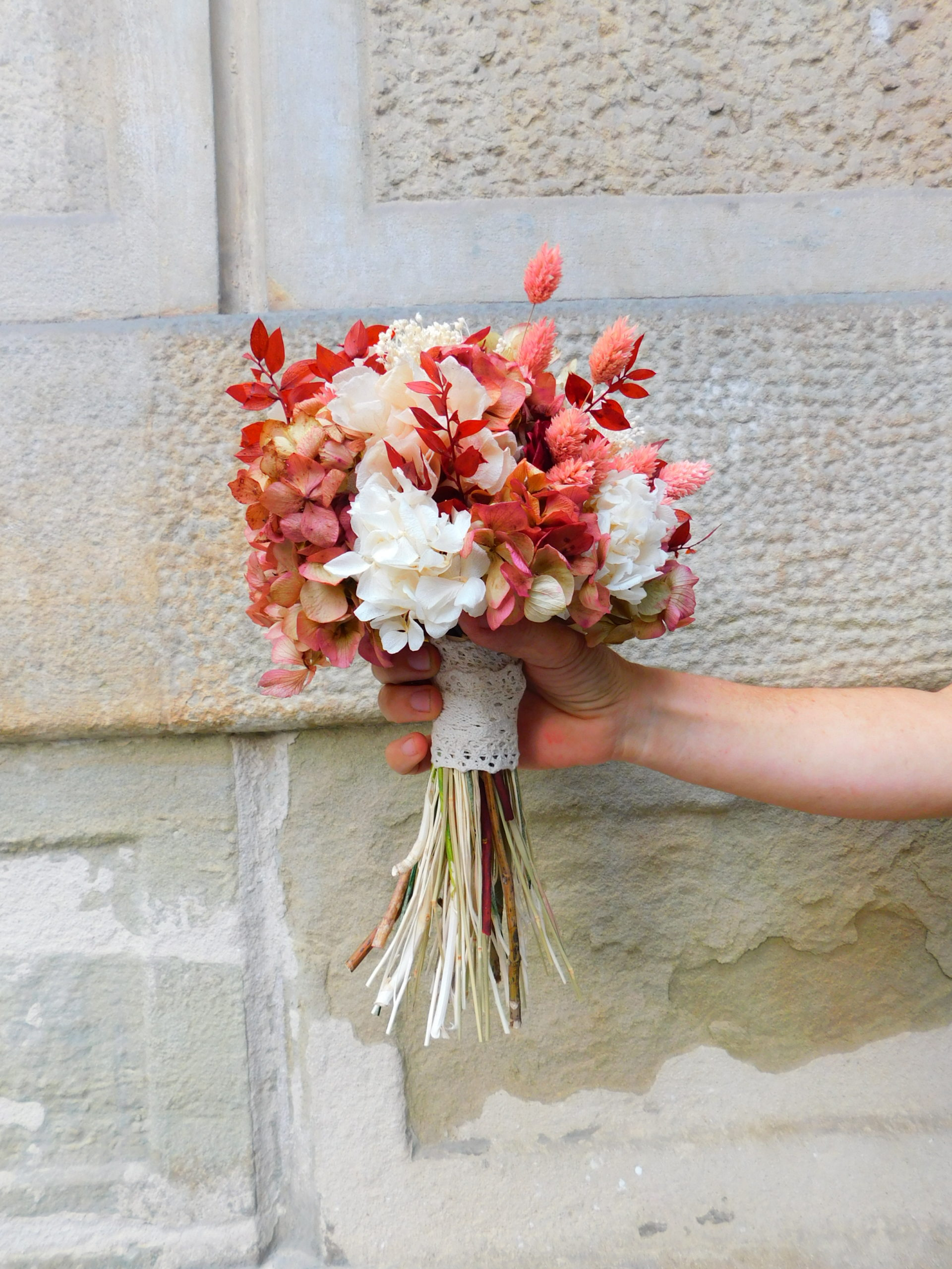 bouquet of preserved flowers for bride